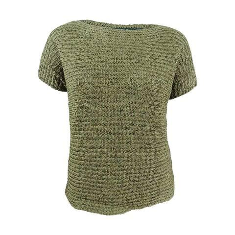 Lauren Ralph Lauren Women's Darbye Tape Crochet Sweater