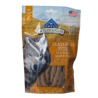 Blue Buffalo Wilderness Flatland Stix Dog Treats Turkey Quail and Duck 6 oz