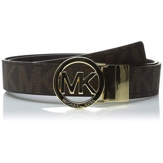 Michael Kors MK Logo Signature Monogram Twist Reversible Belt, Brown To Black 551342C