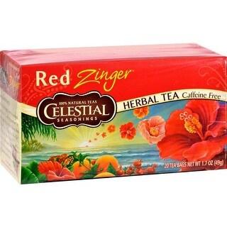 Celestial Seasonings - Caffeine Free Red Zinger Herbal Tea ( 6 - 20 BAG)