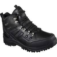 Skechers Men's Relaxed Fit Relment Traven Hiking Boot Black/Black