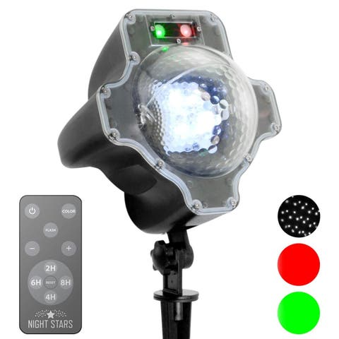 Viatek LL06-SRG Red & Green Laser with Moving LED Snowfall & Remote