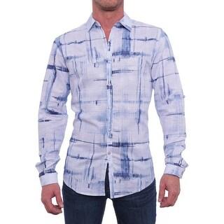 INC International Concepts Chambers Long-Sleeve Shirt Men Regular Casual