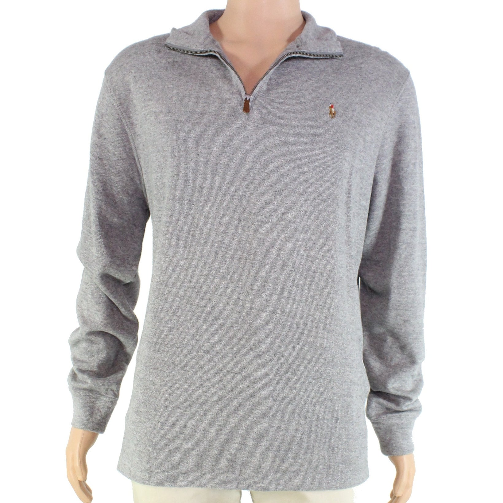 Men/'s POLO Ralph Lauren SWEATER Half Zip CABLE KNIT Pull Over Sweatshirt S-2XL