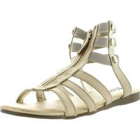 Michael Kors Girls Demi Codie Fashion Gladiator Sandals - Silver