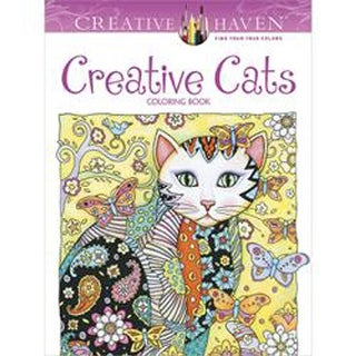 Dover Publications-Creative Cats Coloring Book