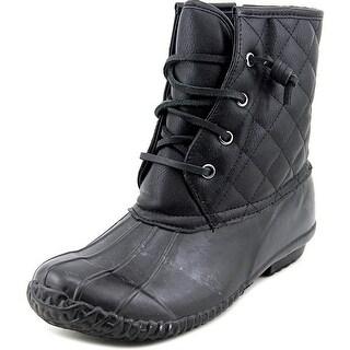 Steve Madden Jstorm Women Round Toe Synthetic Black Winter Boot