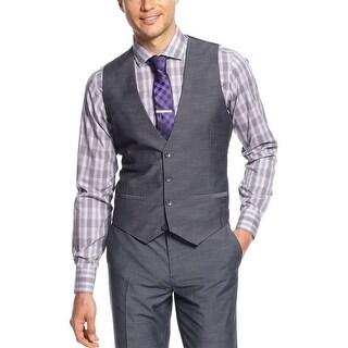 Calvin Klein CK Vest Medium M Ombre Blue Regular Fit Button-Front