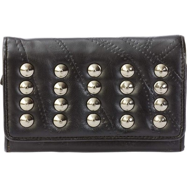 Embassy Italian Stone Design Genuine Lambskin Leather Wallet