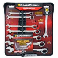 Gearwrench 485100 Metric Ratcheting Wrench Set, 8-Piece