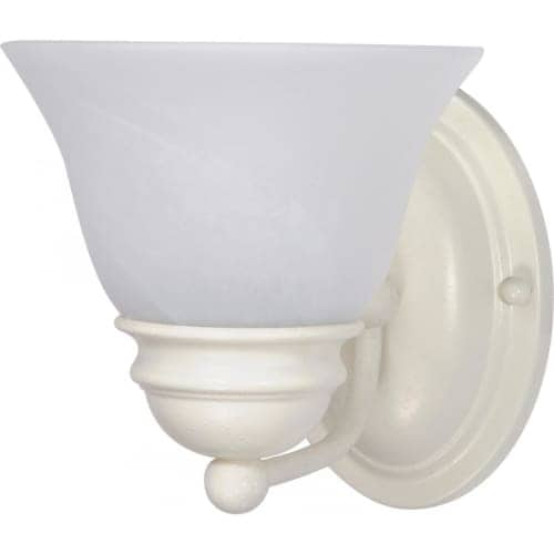 "Nuvo Lighting 60/352 Empire Single Light 6.3"" Wide Bathroom Sconce with Alabaster Glass Shade"