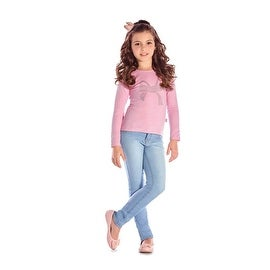 Girls Long Sleeve T-Shirt Top Graphic Tee Kids Clothing Pulla Bulla 2-10 Years