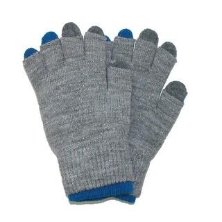 CTM® Women's Metallic 2 Piece Texting Gloves