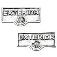 2 Switch Plate Tags EXTERIOR Name Signs Labels Chrome Brass | Renovator's Supply