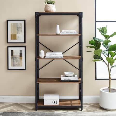 Carbon Loft Minnie 64-inch Angle Iron Bookshelf