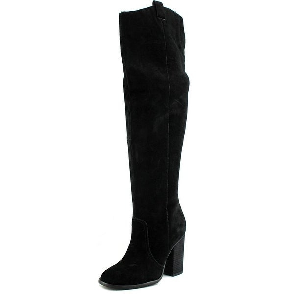 Carlos by Carlos Santana Galina Women Round Toe Leather Over the Knee Boot
