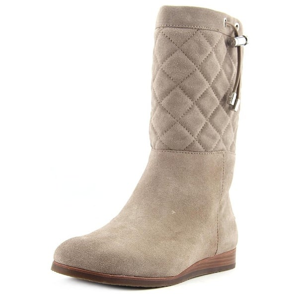 Michael Michael Kors Lizzie Quilted Mid Boot Suede Mid Calf Boot