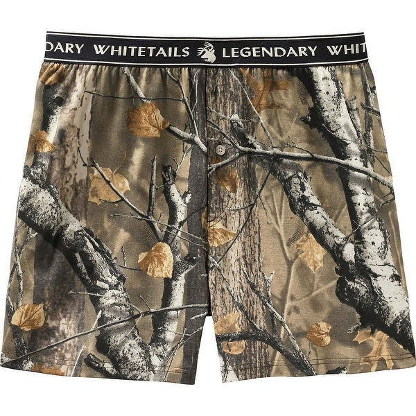 Legendary Whitetails Men's Midnight Timber Knit Boxer Shorts