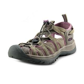 Keen Whisper Women Round Toe Leather Tan Sport Sandal