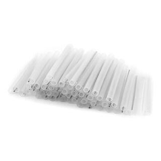 Unique Bargains 100 Pcs Protective Sleeve Fiber Optic Splicing Tube Single Needle 6cm Long