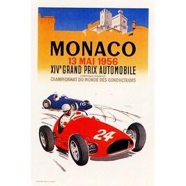 ''Monaco, 1956'' by J. Ramel Transportation Art Print (20.5 x 14.5 in.)
