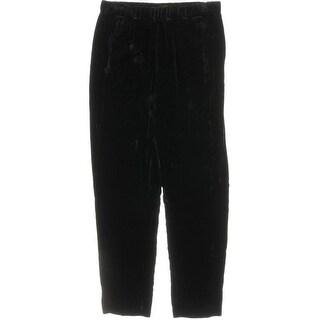 Theory Womens Thorene Solid Velveteen Lounge Pants