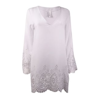 Kenneth Cole REACTION Women's V-Neck Laser-Cut Crepe Swim Cover|https://ak1.ostkcdn.com/images/products/is/images/direct/53d3b35f4141e6154542ab67177324ad5c961045/Kenneth-Cole-REACTION-Women%27s-V-Neck-Laser-Cut-Crepe-Swim-Cover.jpg?impolicy=medium
