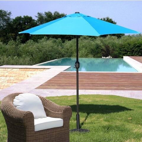 Davee furniture 7.5' Round Patio Umbrella Outdoor Table Market Umbrella(Aqua blue)