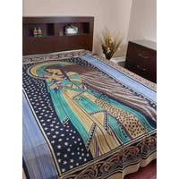 Handmade Cotton Celtic Peace Angel Tapestry Tablecloth Coverlet Throw Full Double 88x106 Inches