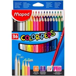 Color'peps Triangular Colored Pencils 36/Pkg-Assorted