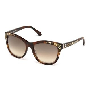 Roberto Cavalli Eyewear Dark Havana Frame Brown Mirror Lens Sunglasses