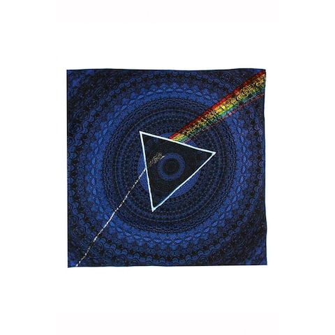 3D Pink Floyd The Dark Side of The Moon Lyrics Bandana Scarf 22 x 22 inches - 22 x 22 inches