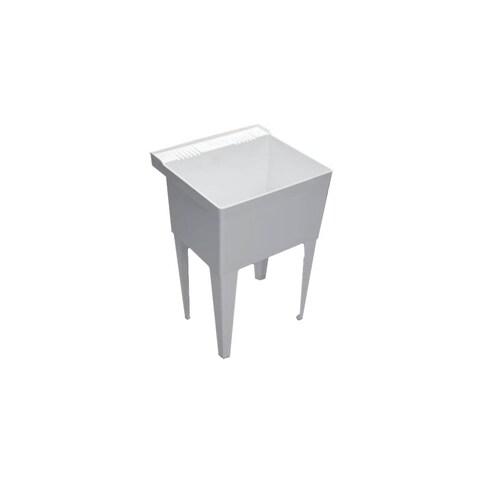 "Proflo PFLT2123 23"" Single-Basin Free Standing Laundry Sink - White - N/A"