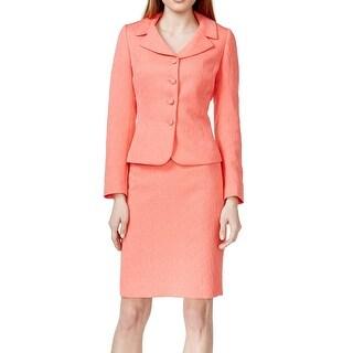 Tahari by ASL NEW Pink Women's Size 8 Notch Collar Skirt Suit Set