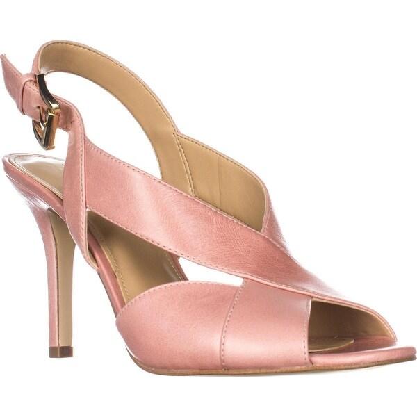 MICHAEL Michael Kors Becky Cross Strap Dress Sandals, Light Rose