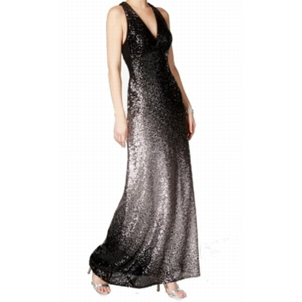 Shop Xscape NEW Black Silver Women\'s Size 2 Ombre Sequin Ball Gown ...