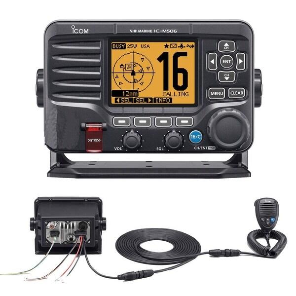 Icom M506 VHF Fixed Mount w/Rear Mic & NMEA 0183/2000 -Black - M506 31