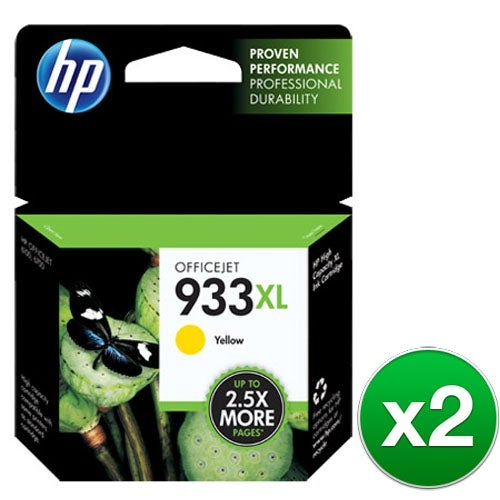 HP 933XL Yellow Original Ink Cartridge (CN056AN)(2-Pack)