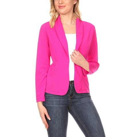 Women's Casual Solid Long Sleeve Blazer Jacket