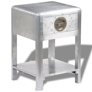vidaXL Aviator End Table with 1 Drawer Vintage Aircraft Airman