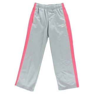 Nike Girls Knock Out 2.0 Fleece Training Pants Grey - grey/neon pink - S
