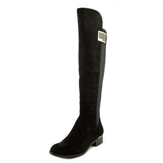 Calvin Klein Cyra Women Round Toe Synthetic Black Over the Knee Boot