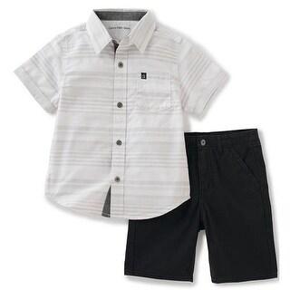 Calvin Klein Kids Boys 4-7 Woven Short Set