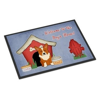 Carolines Treasures BB2854MAT Dog House Collection Corgi Indoor or Outdoor Mat 18 x 0.25 x 27 in.
