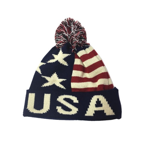 Shop 1312 Usa Flag Knit Hat (12 Pieces) - Color - Blue - Free Shipping  Today - Overstock - 22697047 ac47ef6cc4b