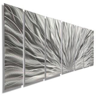 Statements2000 Silver Etched Modern Metal Wall Art Sculpture by Jon Allen - Silver Plumage