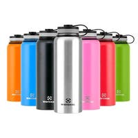 Winterial Insulated Water Bottle, 40oz, Double Walled HOT & COLD, Vacuum Sealed, Pink, Thermos
