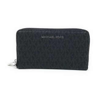 Michael Kors Jet Set Item Large Flat Multifunction Phone Wristlet Case, Black