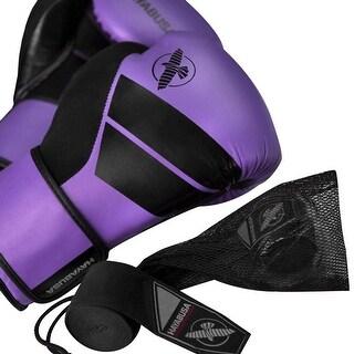 Hayabusa S4 Beginner Boxing Glove Kit with Handwraps and Wash Bag - Purple