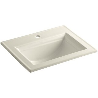 "Kohler K-2337-1 Memoirs Stately 17"" Drop In Bathroom Sink with 1 Hole Drilled and Overflow"